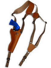 """NEW Barsony Tan Leather Vertical Shoulder Holster Llama Freedom Arms 6"""" Revolver"""