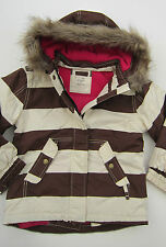 BODEN GIRLS WATERPROOF WINTER SKI JACKET BNWOT  BROWN STRIPE rp£60