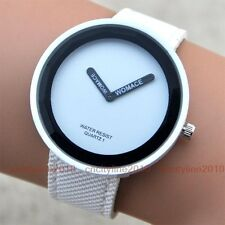 NEW Fashion Concise Simple 2 Pointers Leather Band Women Girl Quartz Wrist Watch