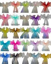 50 Wedding Party Banquet Chair Organza Sash Bow COLORS