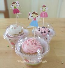 12-120 Sets Cupcake Plastic Holders Clear Boxe Container Wrapper Topper  CW2