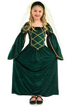 GIRLS MEDIEVAL TUDOR LADY QUEEN PRINCESS FANCY DRESS COSTUME OUTFIT 4-6-8-10-12