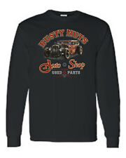 MEN'S LONG SLEEVE SHIRT Rusty Nuts VINTAGE AUTO SHOP USED PARTS HOT ROD S-4X 5X