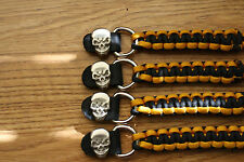 Paracord  Motorcycle Vest Extenders Choice of colors and Snap