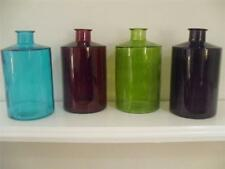 GLASS RED PURPLE TEAL GREEN VASE FLOWER ORNAMENT HOME DECOR ACCESSORY CHRISTMAS