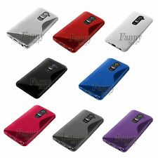 LG G2 D800 D801 F320 F340L LS980 TPU Gel Silicone Case Skin+ Screen Protector