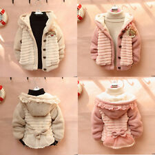 Baby Toddler Girl Lace Bowknot Cardigan Outwear Jacket Coat Knit Sweater Clothes