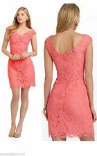 $278 Lilly Pulitzer Rosaline Ginger Orange 38380 About Face Lace Sheath Dress 8