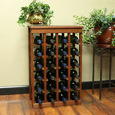 24 Bottle Kitchen Wine Rack In Pine With 6 Different Stain Options Ships Free