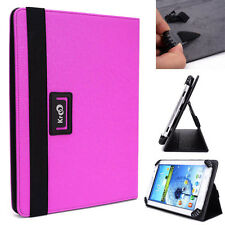 "Kroo Violet Universal Adjustable Folio Stand Cover for 7"" Tablets"