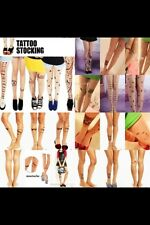 Fake Tattoo Tights-Stockings-Pantyhose-Leggings-Socks Very Trendy & Unique