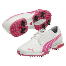Puma BioFusion White/Fluo Pink Women's Golf Shoes 2014 187094-03 New
