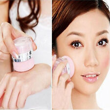 Portable Comestic Bright Blush Cheeks Makeup Blusher Mineral Powder Puff 2 in 1