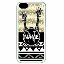 Cover for Iphone 5C Personalised Giraffe animal african pattern name Phone case
