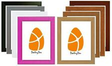 WOOD WOODEN MODERN PICTURE PHOTO FRAME 9 VARIOUS COLOURS & SIZES Stand Wall Hang