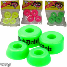 "SHORTYS ""Doh Doh"" Skateboard Truck Bushings 4 pack Pink Green Yellow Cushions"