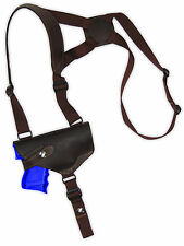 NEW Barsony Horizontal Brown Leather Shoulder Holster Astra Beretta Comp 9mm 40
