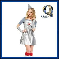 Women's Tin Girl Tin Man Costume - Quality Wizard Oz Fairytale Fancy Dress