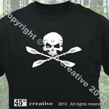 kayaker Crossbones T-shirt - kayak clothing water oars paddles helmet t shirt