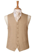 MENS AND PAGE BOYS GOLD STRIPE WEDDING DRESS WAISTCOAT ONLY £10 EACH- BARGAIN !