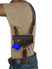 NEW Barsony Brown Leather Horizontal Shoulder Holster Taurus Millennium w/ LASER