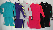 ADIDAS NWT Girls 2PC Track Suit Jacket Pant Top Warm Up 3 3T 4 4T 5 6 6X