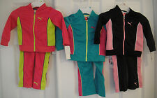 PUMA NWT Girls 2PC Track Suit Jacket Pant Top Warm Up 2 2T 3 3T 4 4T 5 6