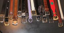 DESIGNER LEATHER BELTS;Coach, Ann Taylor, Onyx, Talbots