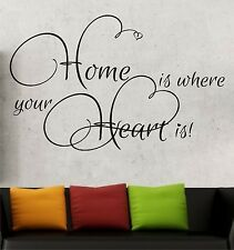 Wandtattoo Sprüche Home is where your Heart Flur Zitate Wandtatoo Buchstaben 6f