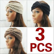 HOT 3 PCS Women GRIL Knit Headband Crochet hairband Winter Ear Warmer Headwrap
