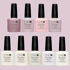 CND Shellac UV Gel Soak Off Nail Polish FRENCH MANICURE Colours Top &  Base coat