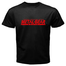New Metal Gear Solid Famous Video Game Logo Men's Black T-Shirt Size S to 3XL