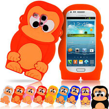 3D Cartoon Animal Cute Monkey Soft Case Cover For Samsung Galaxy S3 Mini i8190
