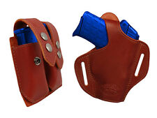 NEW Barsony Burgundy Leather Pancake Holster+Dbl Mag Pouch Sig-Sauer Comp 9mm40