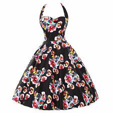 NEW VINTAGE 1950S HOUSEWIFE PINUP ROCKABILLY PROM SWING EVENING COCKTAIL DRESS
