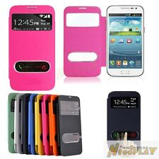 New Smart Wake View Leather Flip Cover Wallet Case For Samsung Galaxy Win i8552