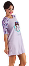 Women Pajamas Sleepwear PJs Nightgown Chemise Purple S M L XL 501044