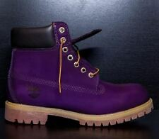 "SYCAMORE STYLE Custom Dyed ""Eggplant"" Purple Timberland Boots"