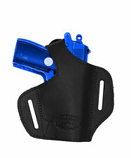 NEW Barsony Black Leather Pancake Gun Holster Smith&Wesson Mini-Pocket 22 25 380