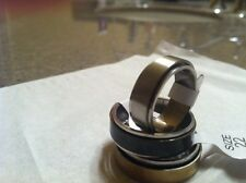 Brushed Stainless Steel Plain Spin Ring. Silver black Gold 9 9.5 10 10.5 11