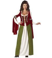 Womens MAID MARIAN costume gown Size M 8-10 L 10-12 XL 12-14 Renaissance NWT