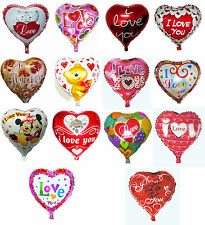"""Heart Shaped Foil Balloons 18"""" Tall - Love Valentine's Day Wedding Decoration"""