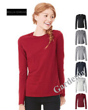 Bella 6500  Ladies' Long Sleeve Jersey T-Shir Womens Size S-2XL Cotton New
