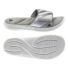 Men Adidas Sandal Centerbreak Slide G62377 White Silver 100% Authentic Brand New
