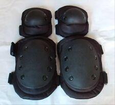 Hot Adjustable Airsoft Tactical Combat Protective Knee+Elbow Pad Skate Knee Pads