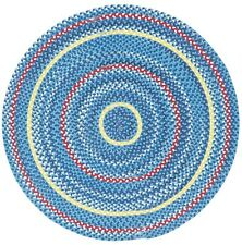 Capel Rugs River Bend Indoor/Outdoor Round Braided Casual Rug Nautical #450
