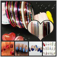 Glitter Color Rolls Striping Tape Line Decoration Sticker Nail Art DIY gold Lot