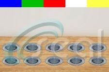 """10 x 1-3/4"""" Deck, Decking, Porch, Yard, Garden Recessed LED Lights - 5 Colors"""