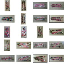 Handmade Ribbon LANYARD Badge ID Holder - Several Styles to Choose From