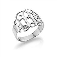 Sterling Silver Monogram Ring. 925 sterling silver, Ring, Jewelry